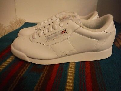 dcbd07b6584 Vtg Womens Reebok Classic White Sneakers Sz 8.5 Athletic Shoes 80s 90s RARE
