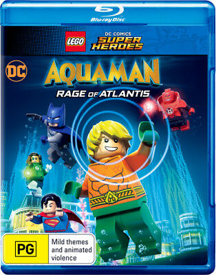 LEGO DC Comics Super Heroes Aquaman Rage Of Atlantis Blu-ray Region B New!
