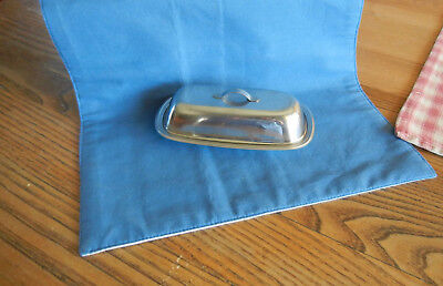 Vintage Gabis Stainless Sweden Butter Dish With Glass Insert FREE POSTAGE