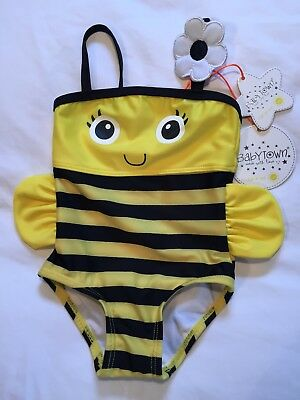 Babytown Honey Bee Baby's Swimsuit Yellow & Black - Age 9-12 Months - BNWT