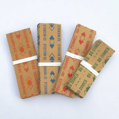 100 - Combination US Coin Wrappers. 1.00 / .50 /.25 /.10/ .05./ 01 choose from