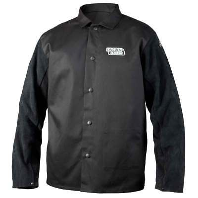 Lincoln Electric K3106-L Traditional Split Leather Sleeved Welding Jacket, Large