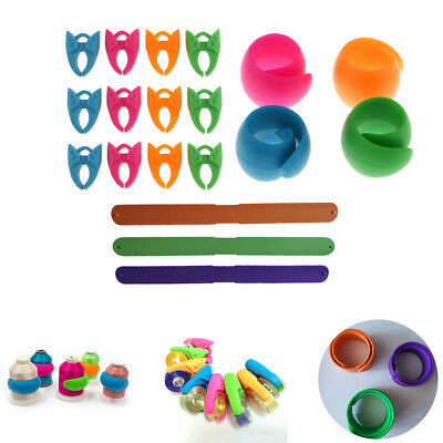 19x Sewing Tool Accessories Silicone Bobbin Holder Clips Thread Spool Hugger