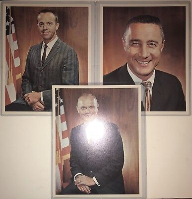 NASA Project Mercury Astronauts Photos Alan Shepard/Gus Grissom/John Glenn