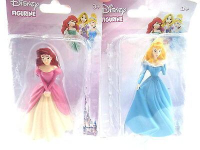 Disney Princess 3 Inch Mini Figure Collectible Figurine Cake Topper 2 Pack *NEW*
