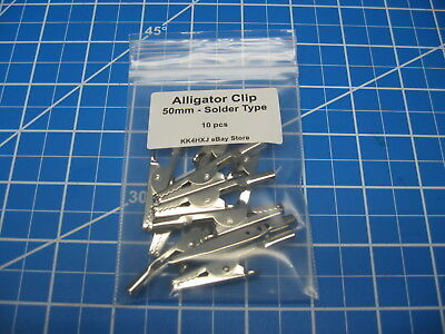 Alligator Clip - Test Clip - Metal - 50mm - Pack of 10