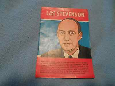 Adlai Stevenson Comic Book 1952 Presidential Candidate Political Campaign
