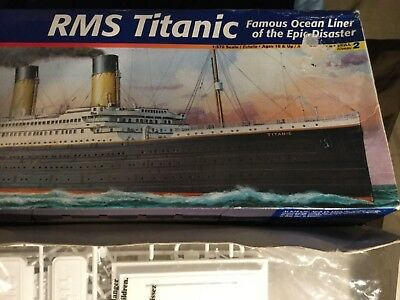 Titanic- RMS- Titanic- Revell Model - See Pics For Discription Package Wear