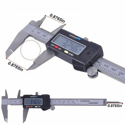 "Digital Electronic Gauge Plastic Steel Vernier Caliper 150mm 6"" Micrometer Newly"