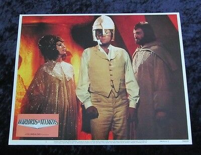 Warlords Of Atlantis lobby card # 1 - Peter Gilmore, Cyd Charisse