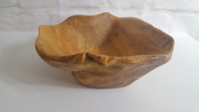 Vintage Handmade WOOD BOWL Unique Style Home Decor Art Work Hand Carved