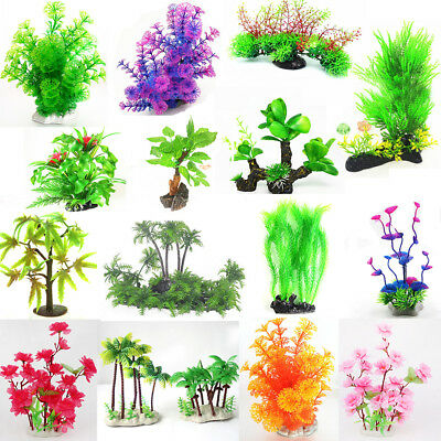 Grass Aquarium Decoration Water Weeds Ornament Plastic Plant Fish Tank Decor Lot