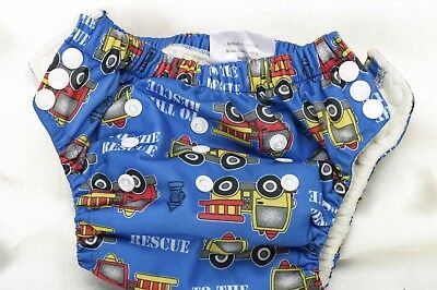 Oh Baby ka Cloth Training Pants 12-24 Months One size fits all Blue Firetruck