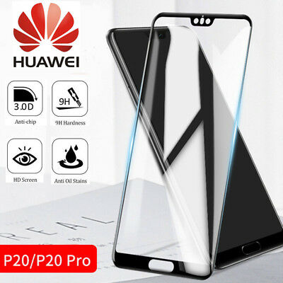 For Huawei P20 Pro/Lite Premium Full Cover Tempered Glass Film Screen Protector