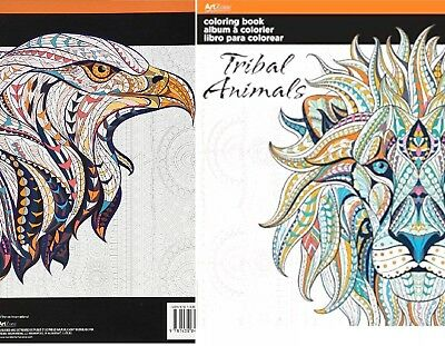 Tribal Animals Coloring book for Adults,  Designs To Free Your Mind