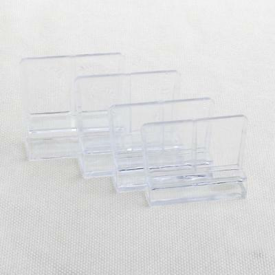 6/8/10/12mm 4X Aquarium Fish Tank Acrylic Clips Glass Cover Support Holder 6L