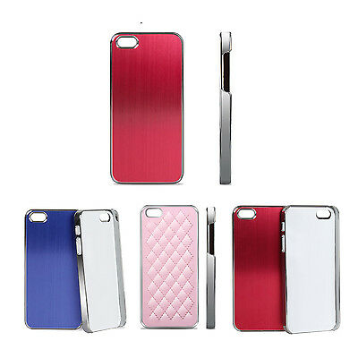 Luxury Aluminum Ultra-thin Metal Hard Case Back Cover For Apple iPhone 5/ 5S