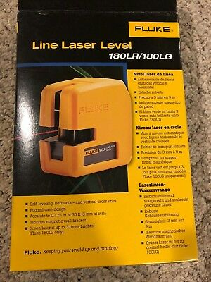 Brand New Fluke 180LR SYSTEM Red 2-Point Horizontal and Vertical Laser Level