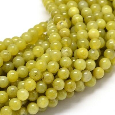 5 Strand Natural Peridot Gemstone Round Bead Strands Necklace Making Peridot