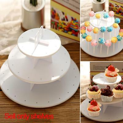 3Layer Tier Ceramic White Round Serving Display Cakes Platter Food Stand Rack w/