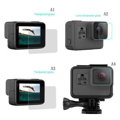 9H Hardness Camera Lens/ LCD Screen Tempered Glass Protector For Gopro Hero 6/5
