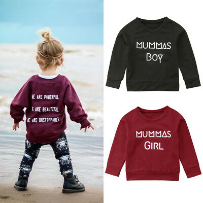 US Baby Boy Girls Long Sleeve Solid Soft Toddler Kids Tops T-Shirt Warm Clothes