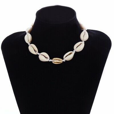 Womens Natural Cowrie Shell Collar Choker Necklace Beach Jewelry Hodiday Gift