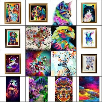 Colorul Animal Flower DIY 5D Diamond Painting Kit Diamond Cross Stitch Kit Decor