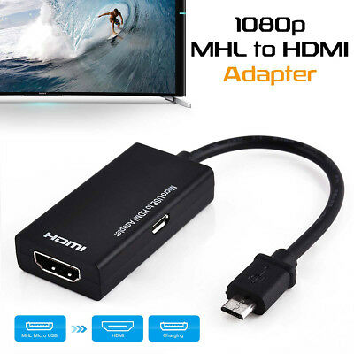 Micro USB To 1080P HDMI HDTV Cable MHL Adapter for Android Huawei Samsung Sony