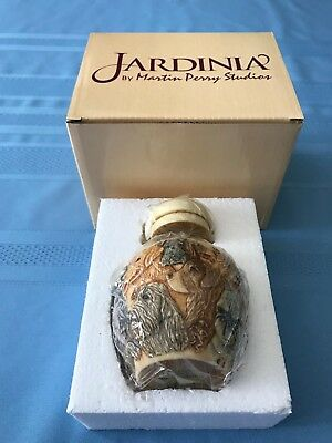 "Jardinia RETIRED,""Puppy Litter"" Cachepot/Ginger Jar,#JALRHO2 ,NIB"