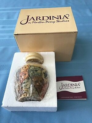 "Jardinia RETIRED ""Kitty Litter"" Cachepot/Ginger Jar,#JALRCA,NIB"