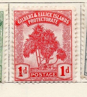 Gilbert and Ellice Islands 1911 Issue Fine Mint Hinged 1d. EdVII 264658