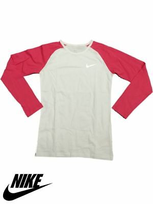 New Nike Originals Girls Children Long Sleeve T shirt Basic Tee Top