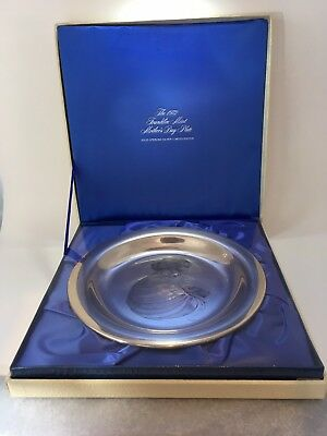 1972 Franklin Mint Mother and Child Sterling Plate Irene Spencer Mothers Day 8""