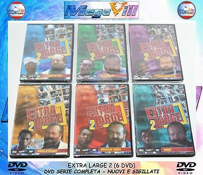 EXTRA LARGE 2 1993 SERIE COMPLETA Alessandro Capone Bud Spencer M. Winslow 6 DVD