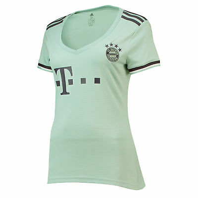 Official Bayern Munich Football Away Shirt Jersey Tee Top 2018 19 Womens adidas