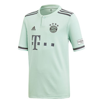 Official Bayern Munich Football Away Shirt Jersey Tee Top 2018 19 Kids adidas