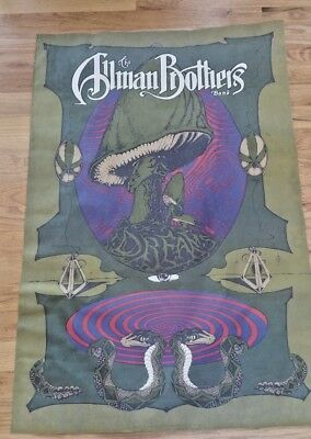 VTG 1989 ALLMAN BROTHERS BAND DREAMS Polygram Promo Poster Art by Klotz Framed