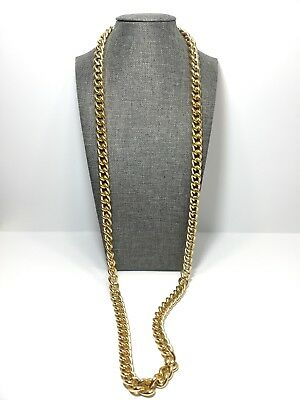 Fashion Gold Tone Link Chain Long Necklace