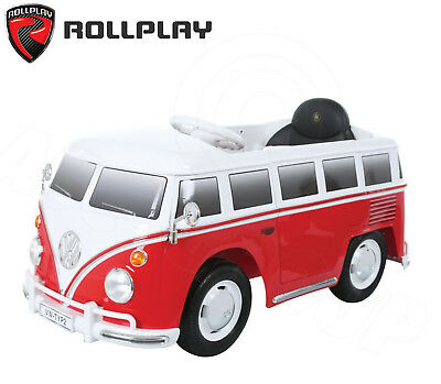 3a8532c0be 6v Battery Powered VW Type 2 Bus Minibus Split Screen Ride-On RED +  Controller