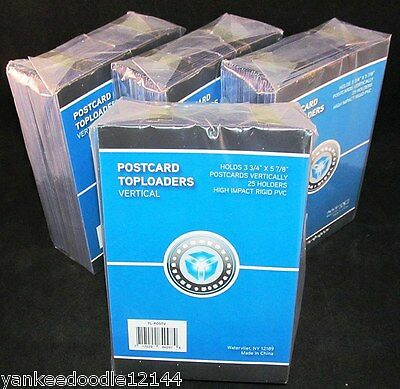100 PSD 3.75 x 5.875 Rigid Hard Plastic Vertical Postcard Topload Holders
