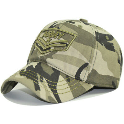 US Army Military Camouflage Adjustable Baseball Hat Wild CS Tactical Peaked Cap