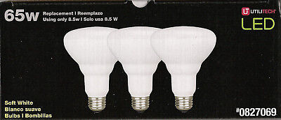 3 Pack LED BR30 Utilitech Floods Dimmable 8.5W Soft White