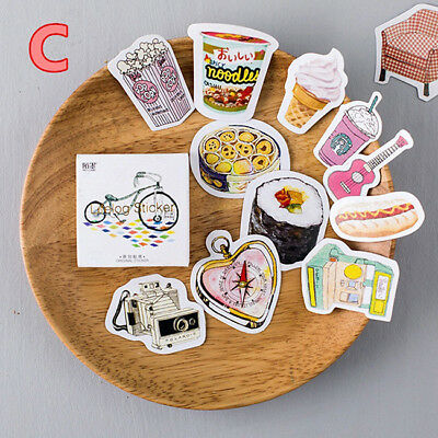Cute 45Pcs Cake Paper Sticker Diary Decoration Scrapbooking Label S