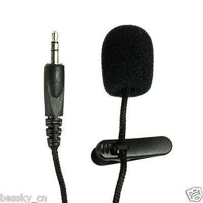 Mini 3.5mm Tie Lapel Lavalier Clip Microphone for Lectures Teaching 2M Durable