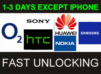 O2 UK Lumia Sony Samsung Nokia Htc Huawei LG All Except iPhone Unlocking Service