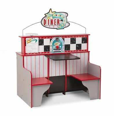 Melissa & Doug Deluxe Star Diner Restaurant KITCHEN BOOTH 25 Accessor BRAND NEW
