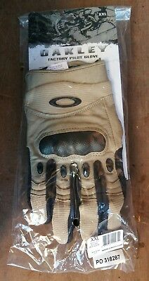 New Original British Army Oakley Factory Pilot Gloves Carbon Fibre Knuckles
