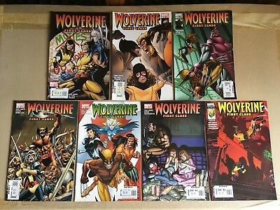 """Marvel Comics Wolverine """"First Class"""" issues 1-7 Brand new n/m condition"""