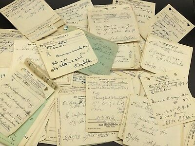 Vintage Pharmacy Medical Rx Prescriptions Bundle Lot of 20 for Altered Art Mixed